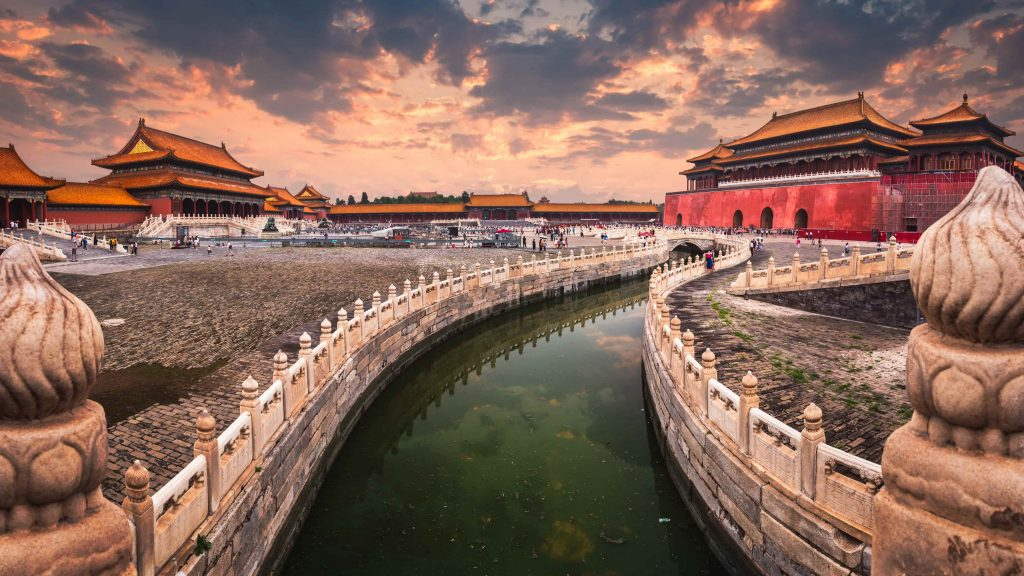 A-moat-runs-through-the-center-of-the-Forbidden-City-in-Beijing-China-min