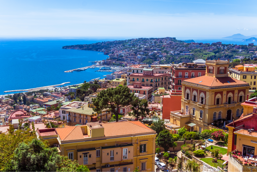 Aerial-view-from-hilltop-over-Naples