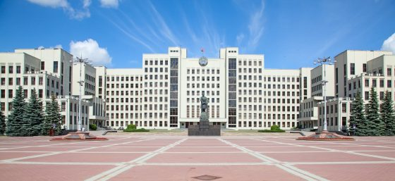 Parliament-building-on-the-Independence-square-in-Minsk