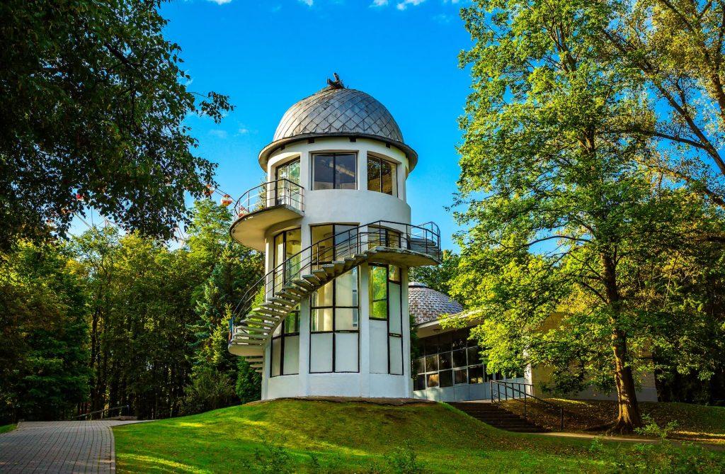 Planetarium and Observatory building in Gorky Park in Minsk, Belarus