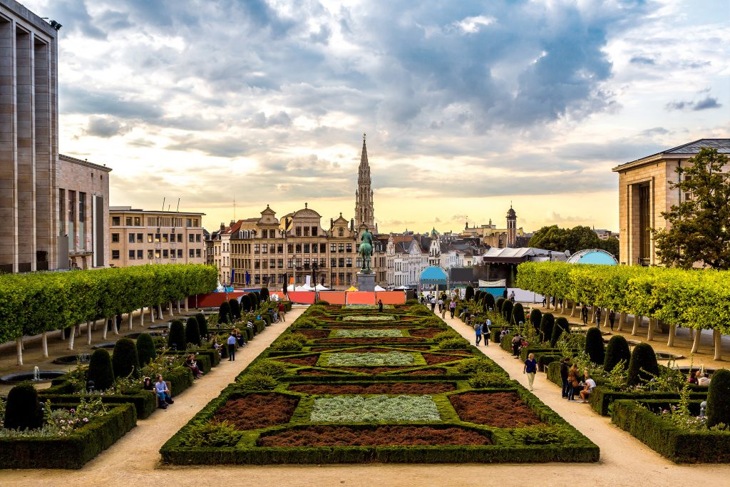 Cityscape-of-Brussels-in-a-beautiful-summer-day
