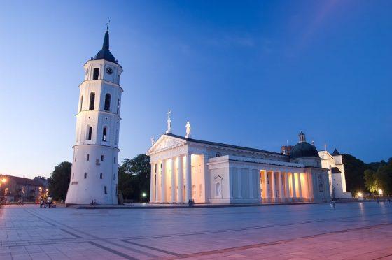 Vilnius - Cathedral Square at night