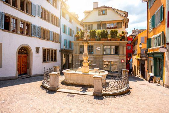old-city-center-of-Zurich-in-Switzerland