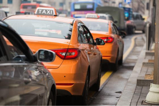 taxi-on-street